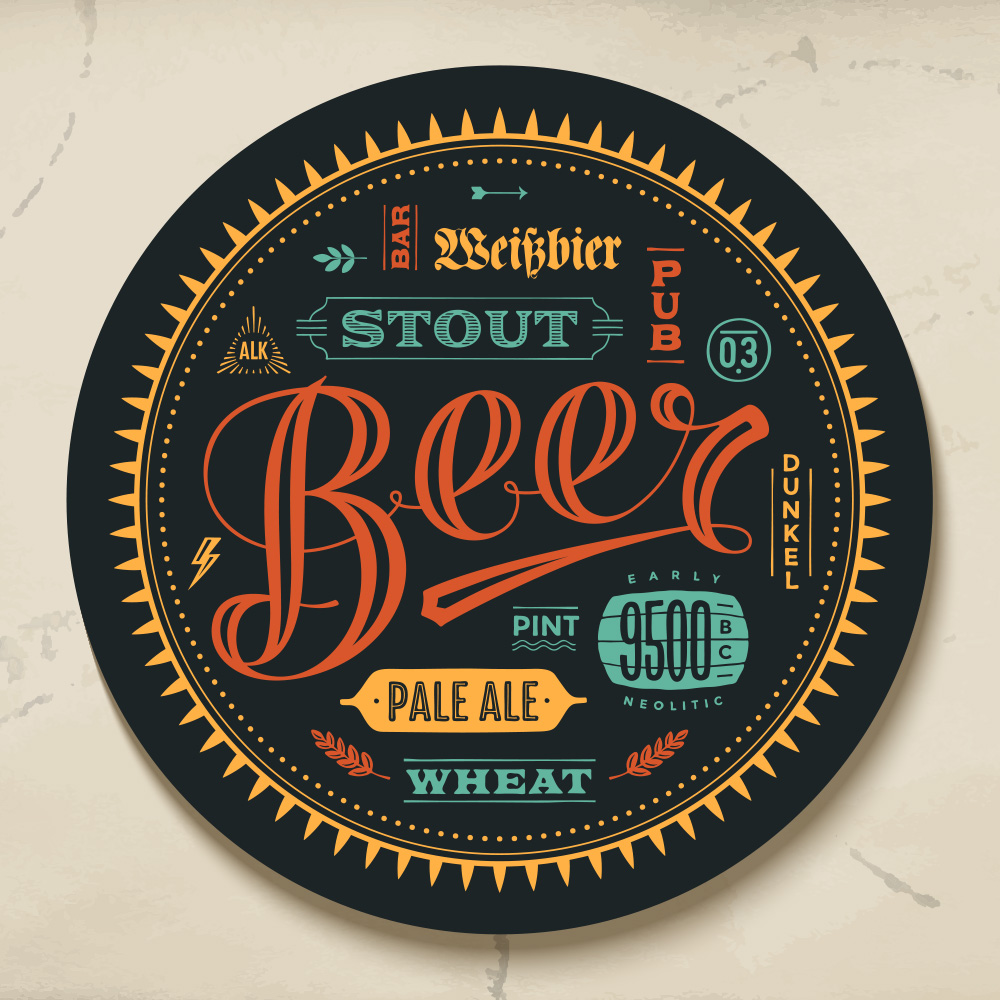 Beer Mat Graphic Design