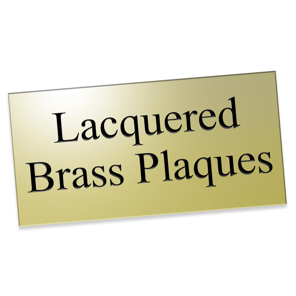Lacquered Brass Plaques and Business Signs