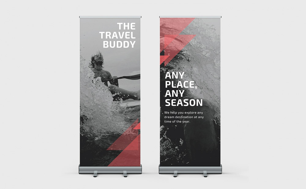 Double Sided Roller Banner 850mm