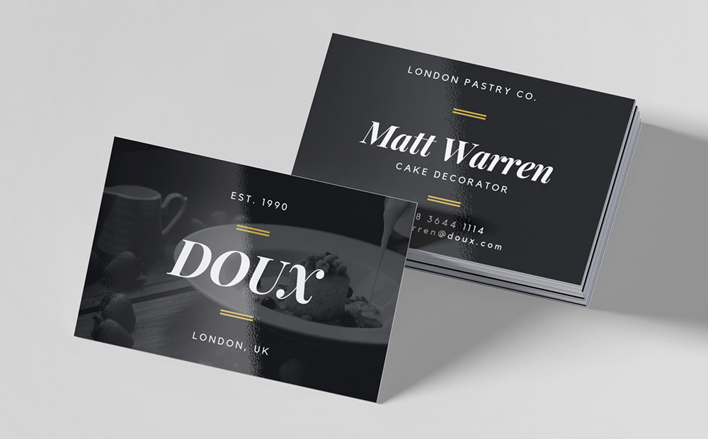 Gloss Laminated Business Cards Online
